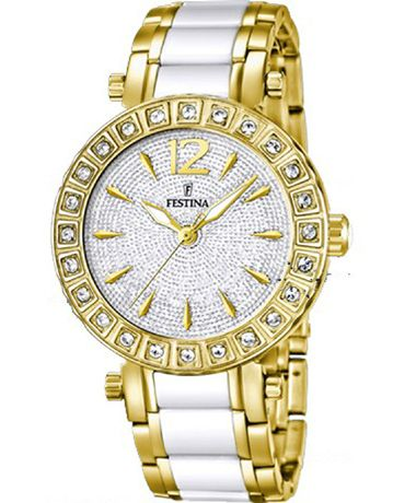 FESTINA Ladies Crystal Ceramic and Stainless Steel Bracelet Τιμή: 252€ http://www.oroloi.gr/product_info.php?products_id=36401