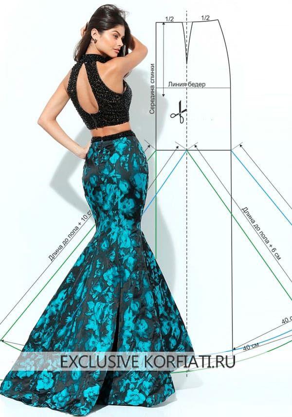Patrón de falda larga Año