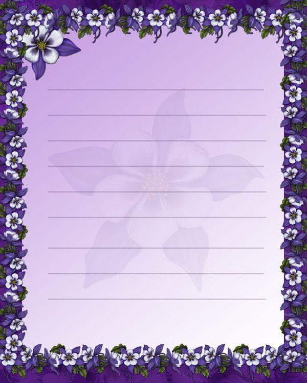 Purple Stationary by JunkbyJen by JunkbyJen