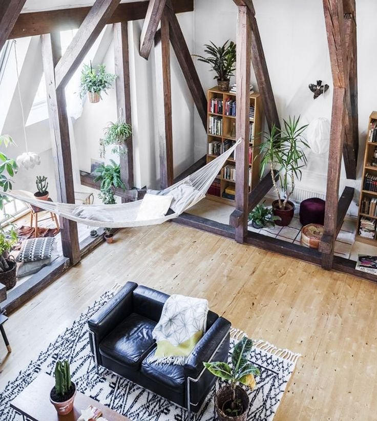 This Modern Loft Apartment Has An Industrial Feel With Cosy Elements To  Soften The Look. Weu0027d Love To Hang On That Hammock!
