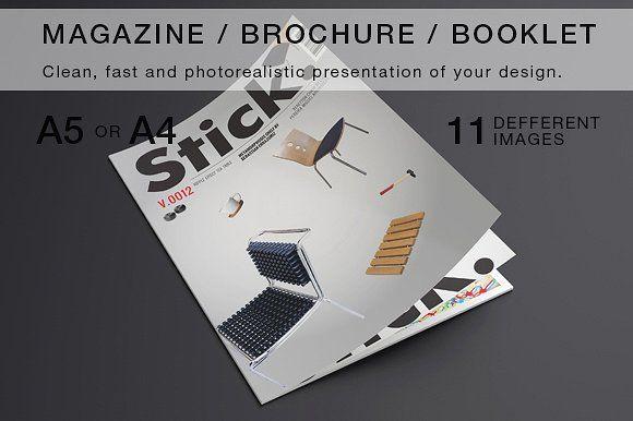 Magazine / Brochure Mock-up by ItemBridge on @creativemarket