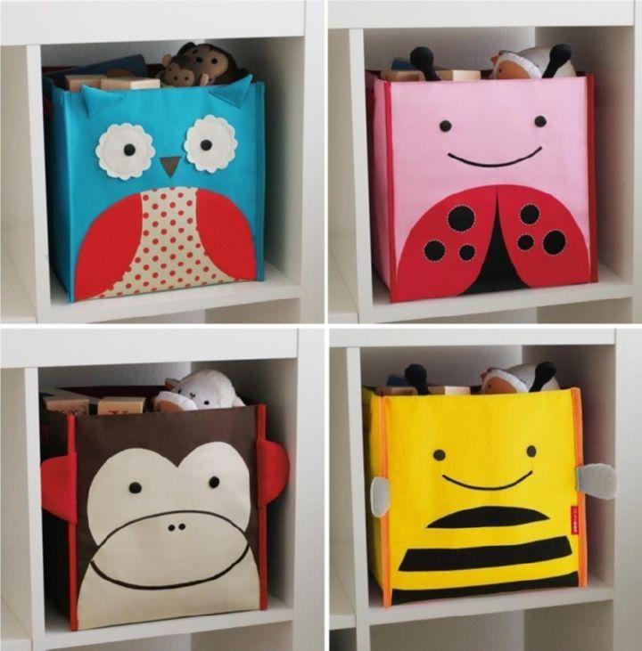 Забавные коробки для хранения игрушек