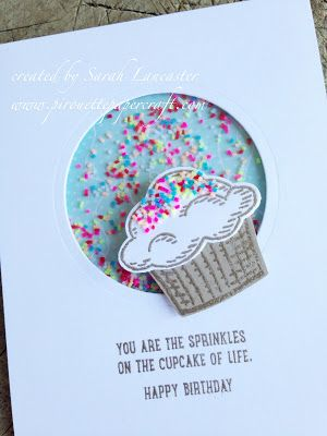 sprinkles of life stampin up | cupcake shaker card | pirouette paper craft  Stampin' Up!