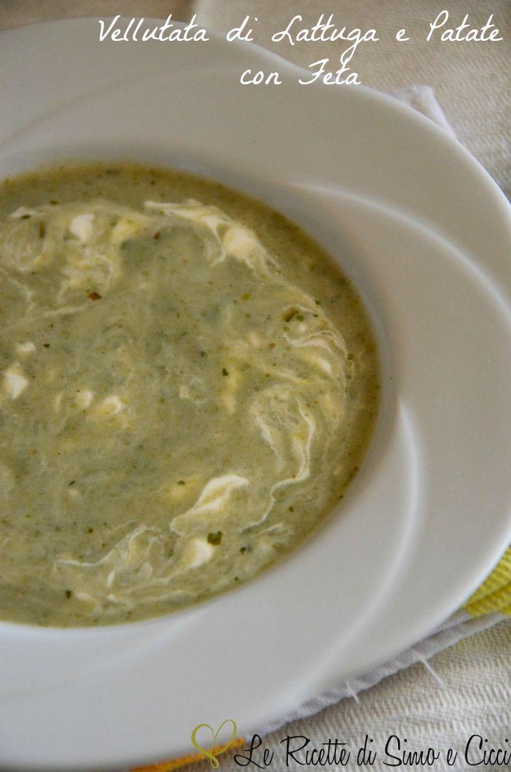 La Vellutata di Lattuga e Patate con Feta è un comfort food invernale da gustare caldissimo soprattutto in queste fredde giornate piovose!