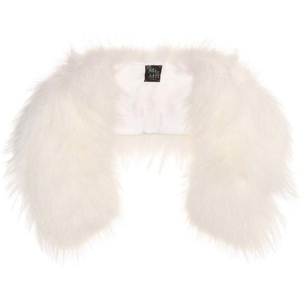 Mr & Mrs Italy Fur Stole ($1,000) ❤ liked on Polyvore featuring accessories, scarves, white, fur stole, fur shawl, white stole, fur scarves and white fur shawl