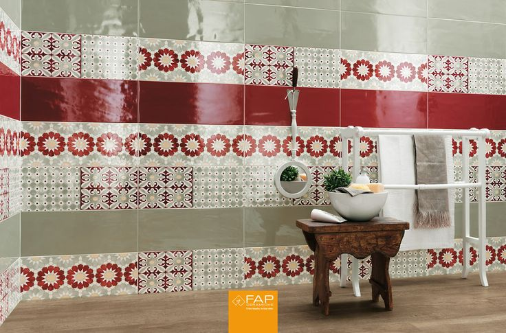 A contemporary #colour palette, full and brilliant colours, a sophisticated atmosphere. This is the Folk #decoration: the #charm of authentic #ceramics. #FAPceramiche