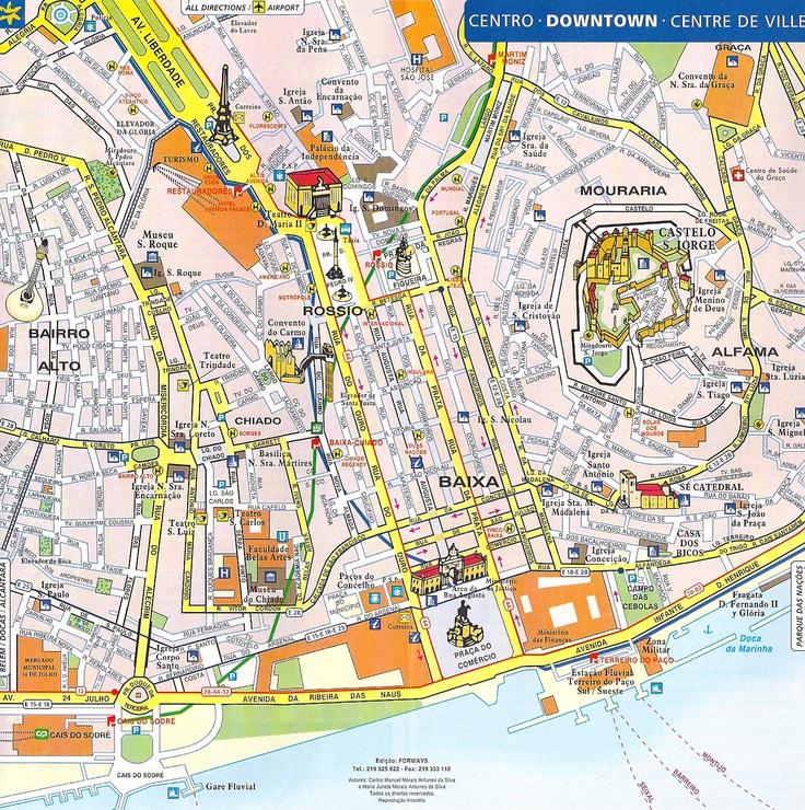 Lissabon, map
