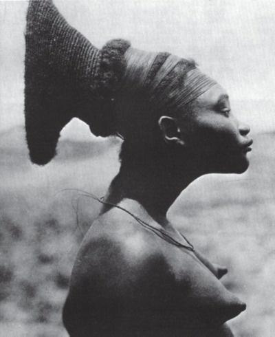 Nobosodrou, a Mangbetu woman in the Belgian Congo (now the ...