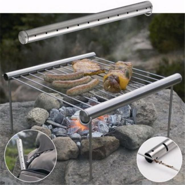 NEW Stainless Steel Portable Camping Pacnic Outdoor Charcoal BBQ Grill - Y2 #Unbranded