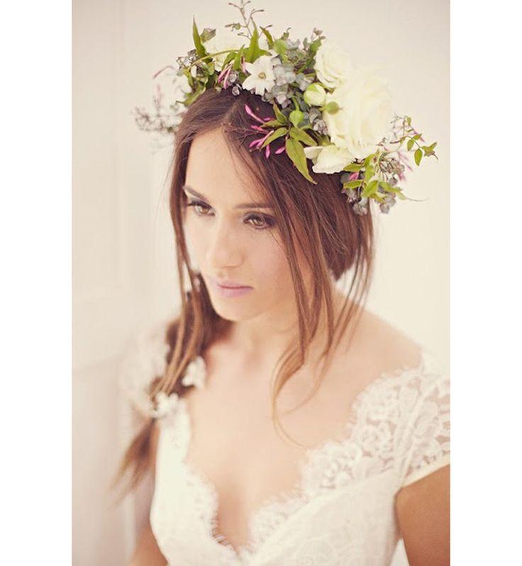 Couronne de fleurs de mariée : le style bucolique