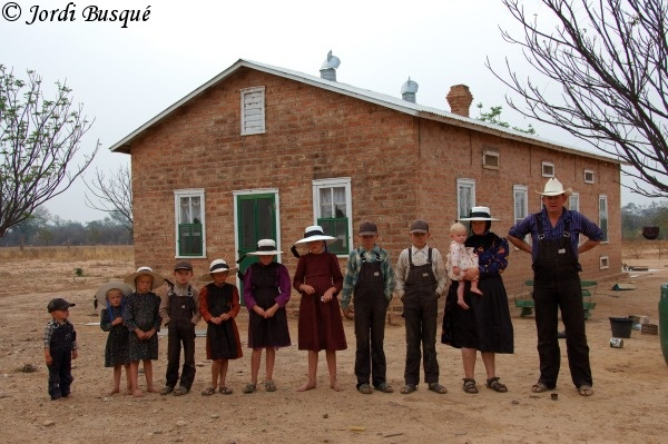 Old Colony Mennonite family, Durango, Mexico.