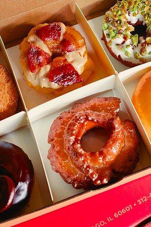 Or specialty donuts � like the maple bacon, pistachio lemon, or Key lime and graham cracker � at Do-Rite Donuts: | What's The Best Thing To Eat In Chicago For Under $10
