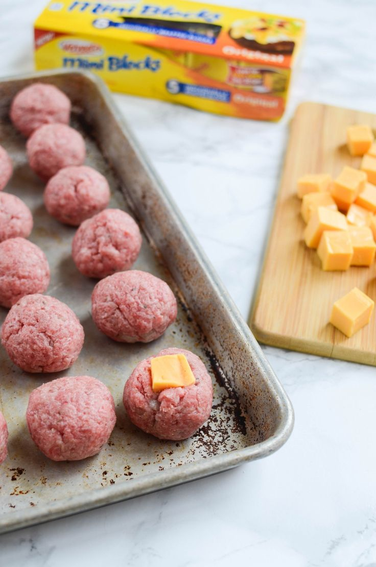 [ad] New VELVEETA® Mini Blocks give these meatballs a cheesy center the whole family will love