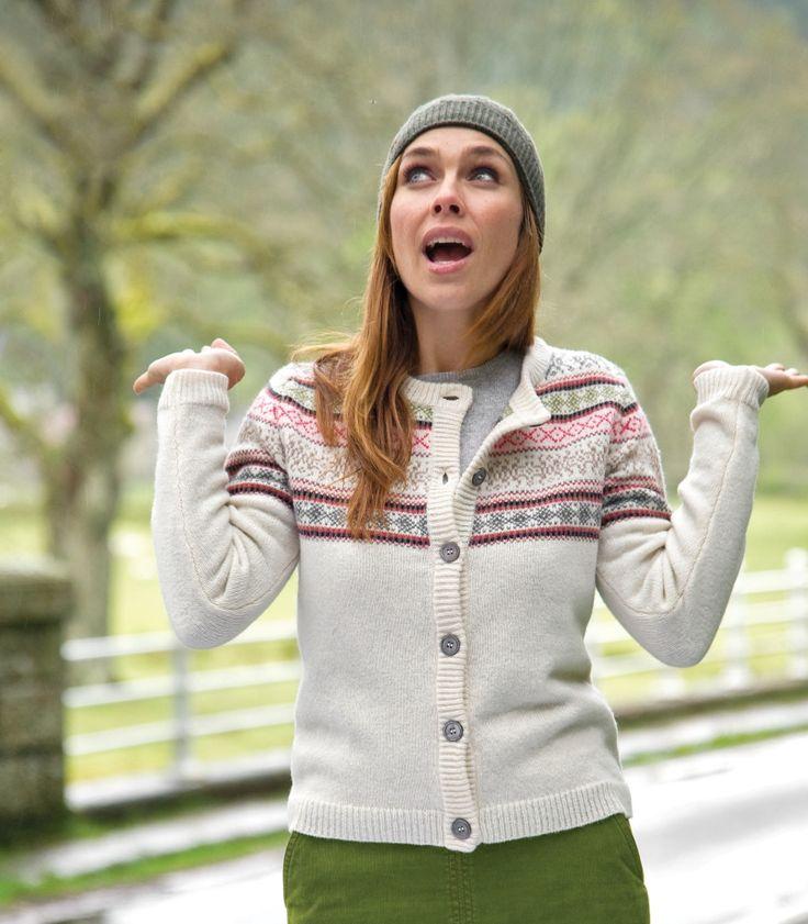 Fair Isle Cardigan | lambswool | Women's | Wool Overs