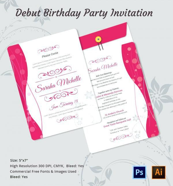 Unique Birthday Invitation Letter Birthday Party
