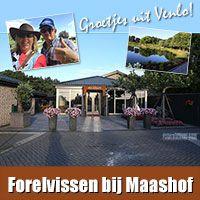 Vangstverslag forelvissen bij Forellenvijver Maashof in Boekend, Venlo