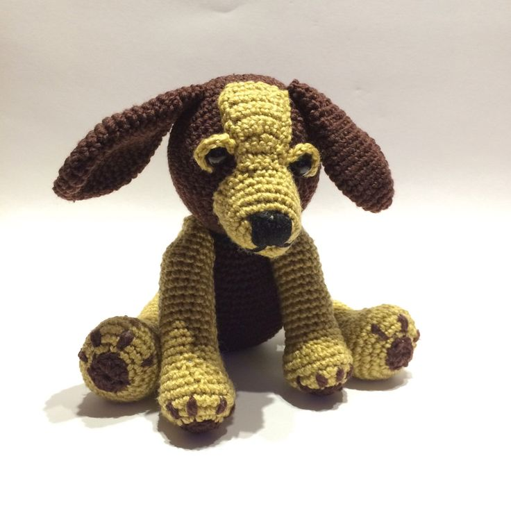 Crochet puppy looking for a home by Exporium on Etsy