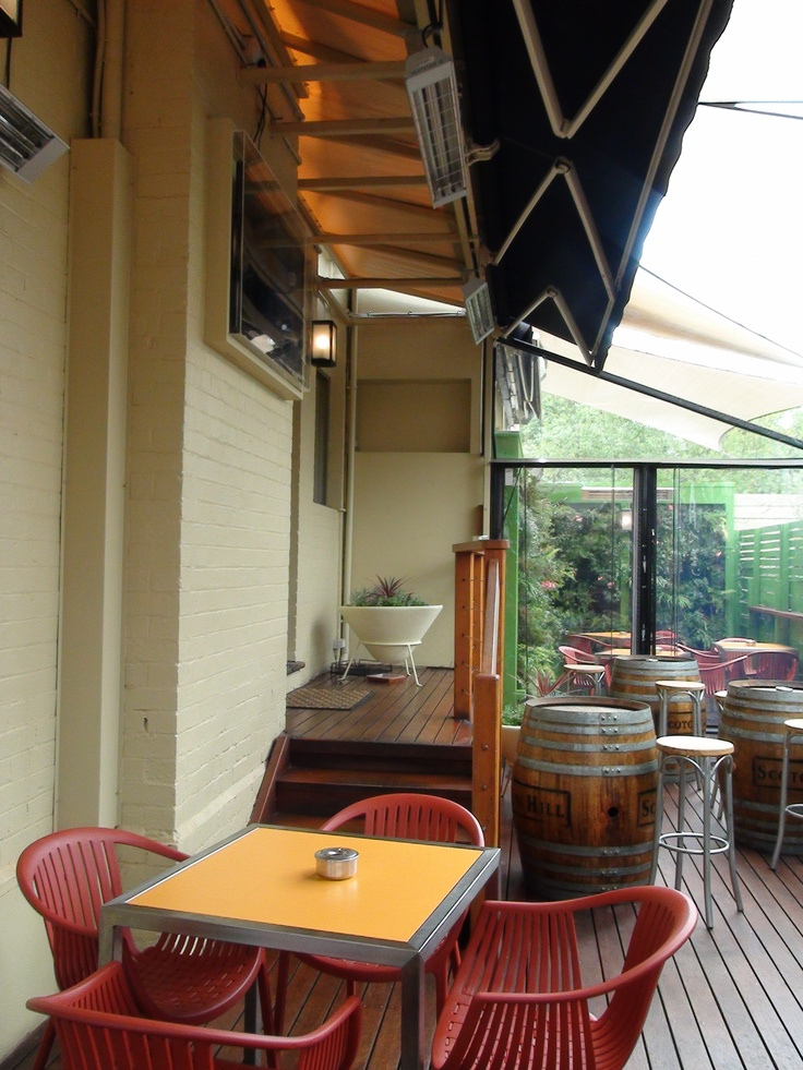 Heatstrip Max outdoor heaters by Thermofilm Australia are perfect for heating outdoor dining areas or beergardens.