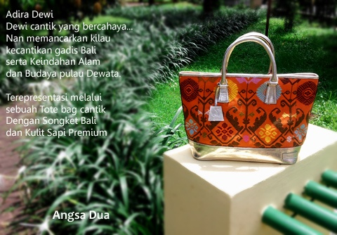 Sorry, this bag has been stolen by someone.   Balinese Luxury Songket  made this tote bag looks so stunning. the color is very beautiful.. Really Love it