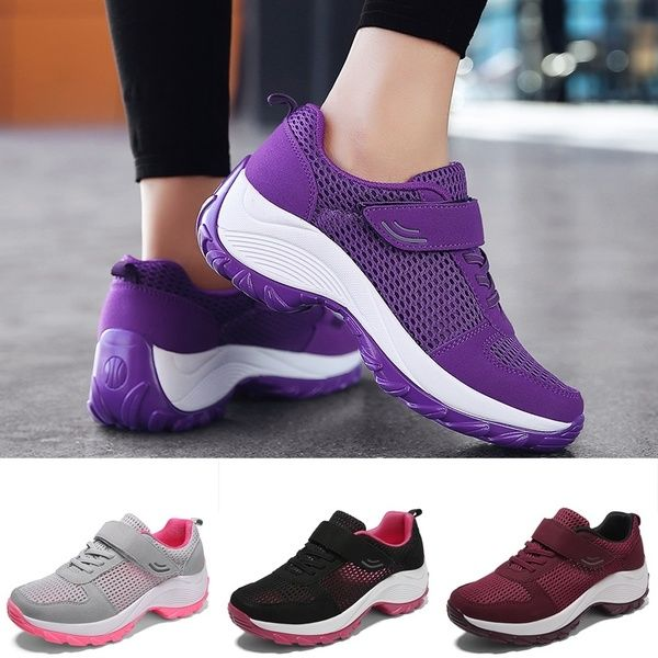 Women Mesh Running Shoes Breathable Ladies Sneakers Sport Fitnes Sneakers Wish Womens Sneakers Sneakers Shoes