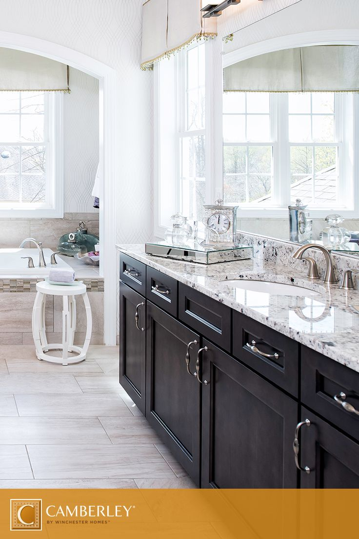 Imagine Getting Ready For The Day Ahead In The Langley Ii Model's Spastyle  Bathroom Granite Countertops, Lavish Tile Flooring, Dark Cabinets And  Timeless