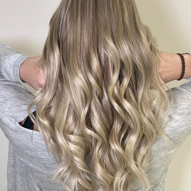 Blondierte strähnen