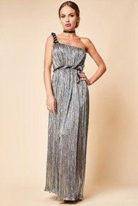 Rochie Lunga Eleganta Argintie