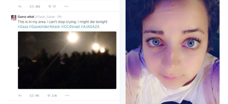 Palestinian Teen . Farah Baker 'Live Tweets' Nighttime Bombardment in Gaza   NBC News
