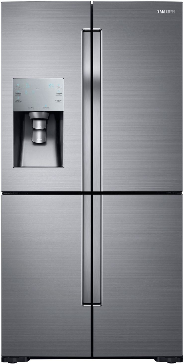 Samsung RF28K9070SR 36 Inch 4-Door French Door Refrigerator with 28.1 cu. ft. Total Capacity, 4-Temperature FlexZone Compartment, 4 Glass Shelves, Triple Cooling System, Ice Master Ice Maker, External Water/Ice Dispenser and Energy Star Rated: Stainless Steel