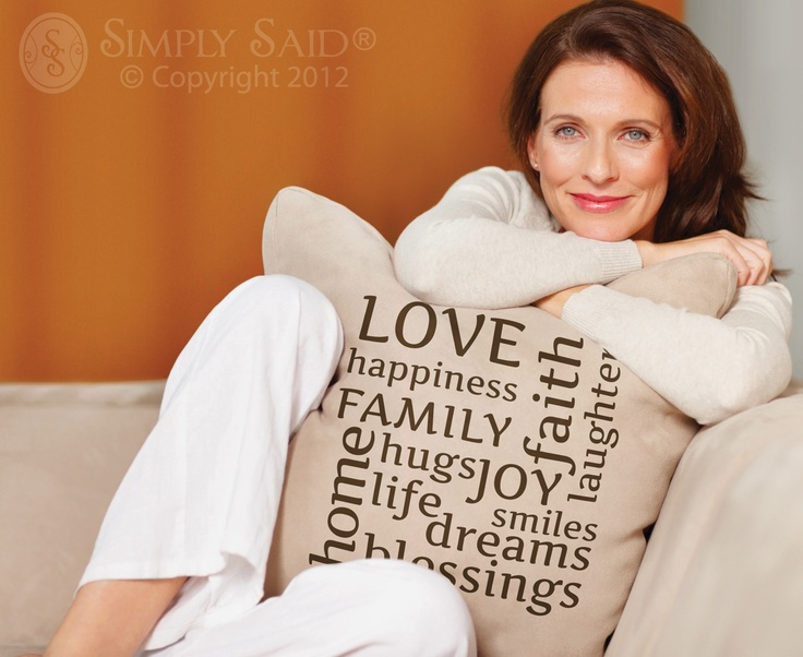 Love, Happiness, Faith, Family...  Word Pack in Simply Said Iron-On Vinyl.  Many colors to choose from.   Perfect gifts.    Http://www.mysimplysaiddesigns.com/571