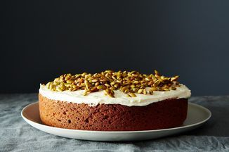 Pumpkin Cake with Cream Cheese Icing and Caramelized Pumpkin Seeds Recipe on Food52, a recipe on Food52