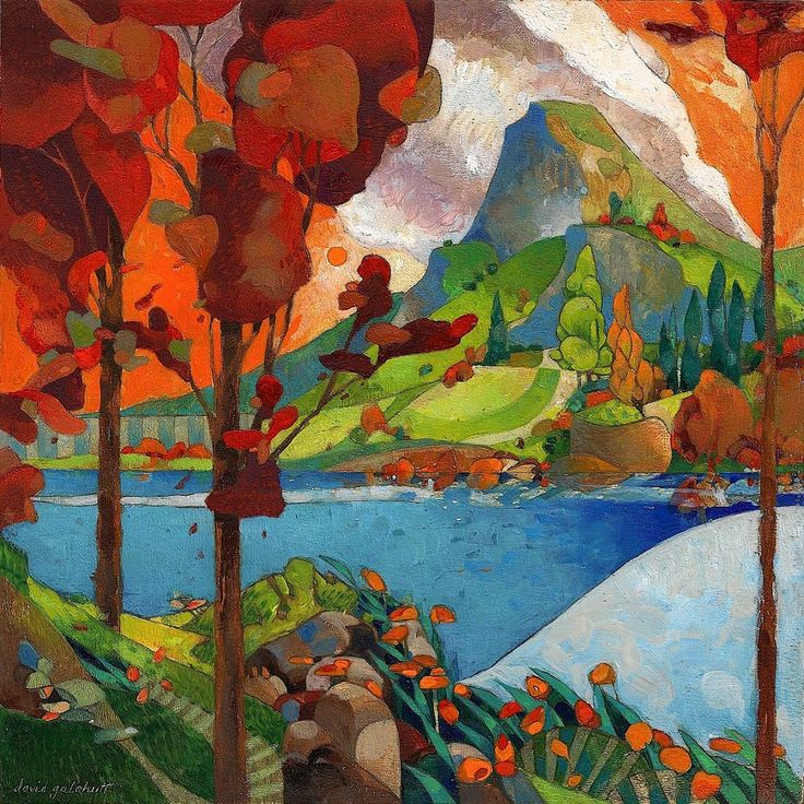 Really like this by David Galchutt - across the lake. http://www.etsy.com/listing/51488769/across-the-lake