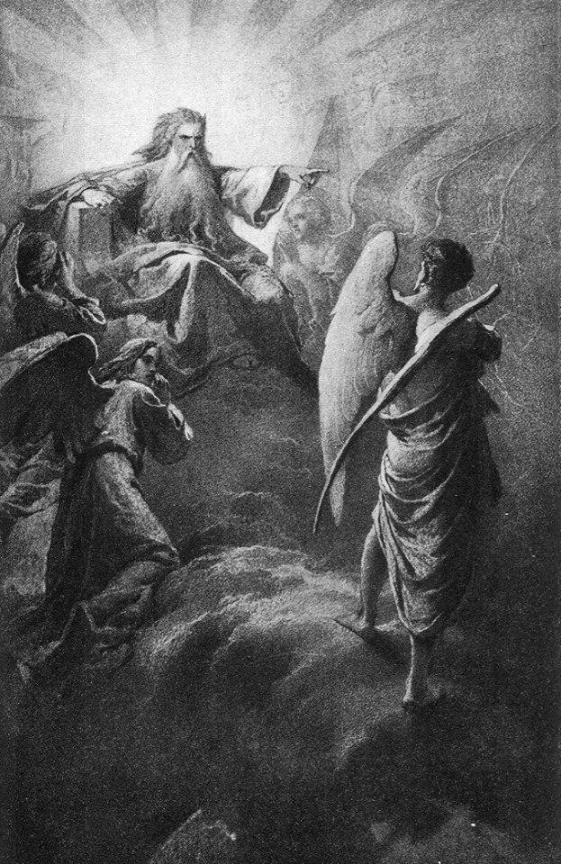 Lucifer contra el Señor. Por Mihály Zichy, 1902. http://iglesiadesatan.com/