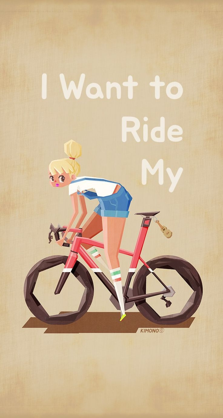 5547.Ride a STEARNS and be content.woman riding bike.POSTER Home Office decor