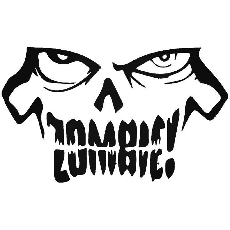 Zombie 38 Decal Sticker | Vinyl decals, Vinyl, Zombie logo