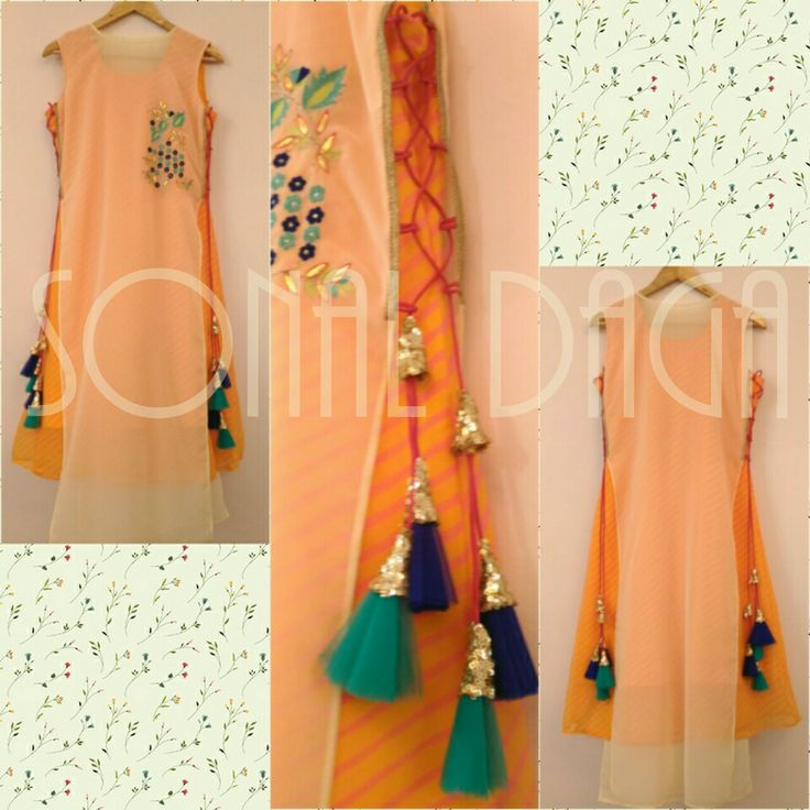 #designer #fashion #leheriya #kurti