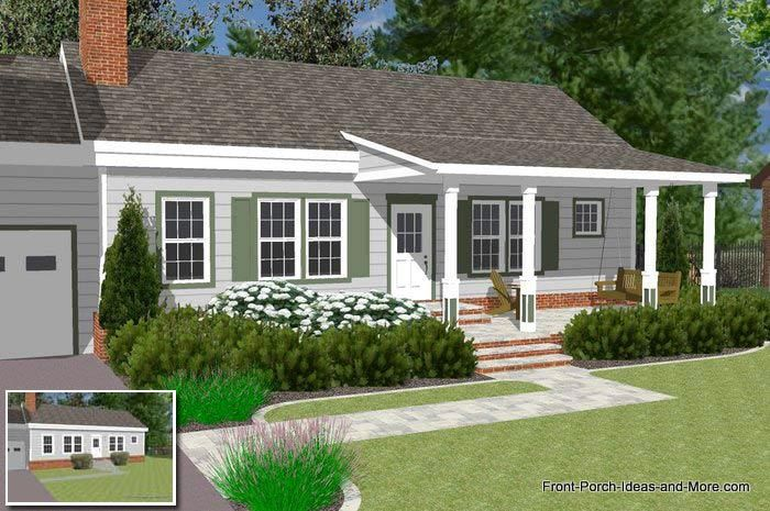 Stunning Ranch Style House With Front Porch Ideas House