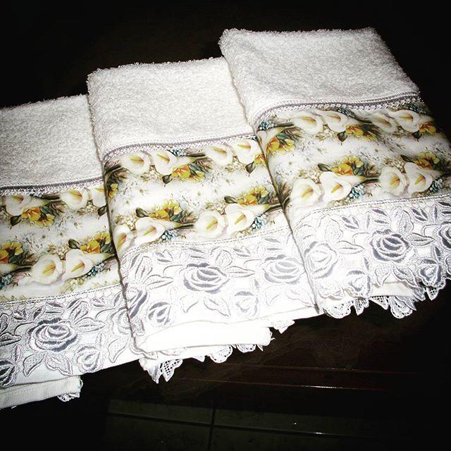 Toalhas de lavabo.