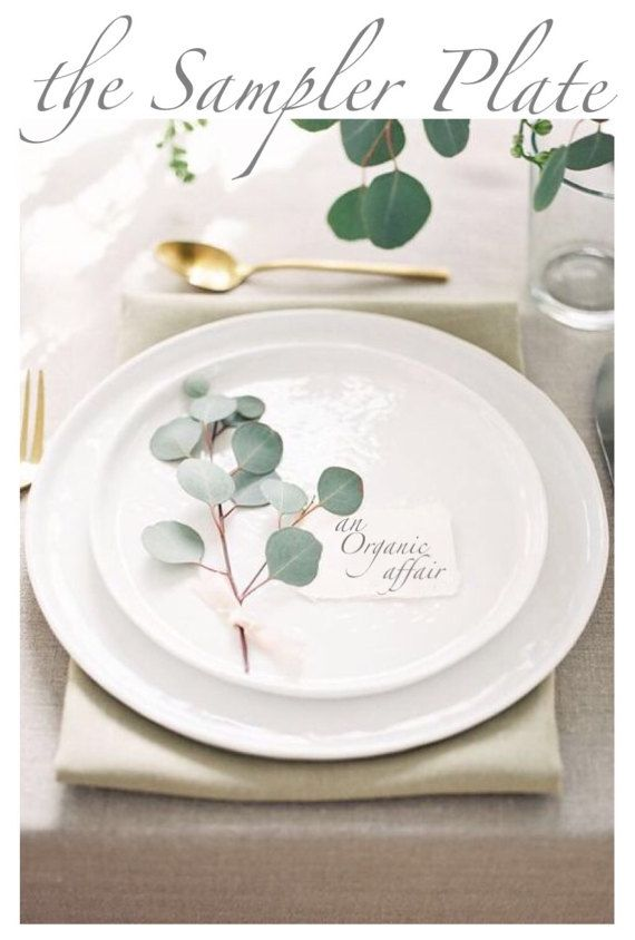 Silver Greenback Eucalyptus Sampler Plate – 6 ouncesFresh Sprigs / three ouncesConfetti Petals – Wedding ceremony Centerpi