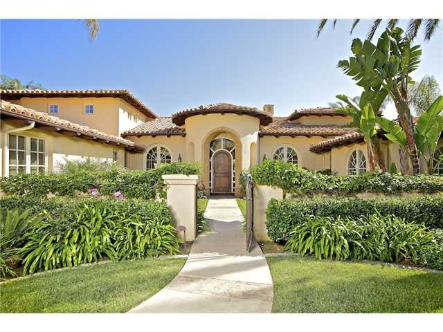 Spanish Home with courtyard entry.   Dream Home