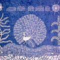 Garden Beauty Plucking Flowers- Madhubani Painting Painting by Aboli Salunkhe