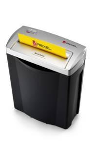 Trituradora de Papel IBICO-REXEL Ancho: 22 cms. Capacidad: 4 A 5 hojas aprox.  Tamaño de corte: 6 X 4mm.  Puesta en marcha y detención: Automático.  Dimensiones : 360 x 320 x 190 mm.  Precio: $24074 + iva