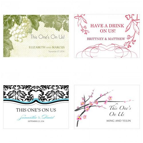 Drink Tickets See More If You Re Planning To Host A Full Bar At Your Reception Issuing Wedding