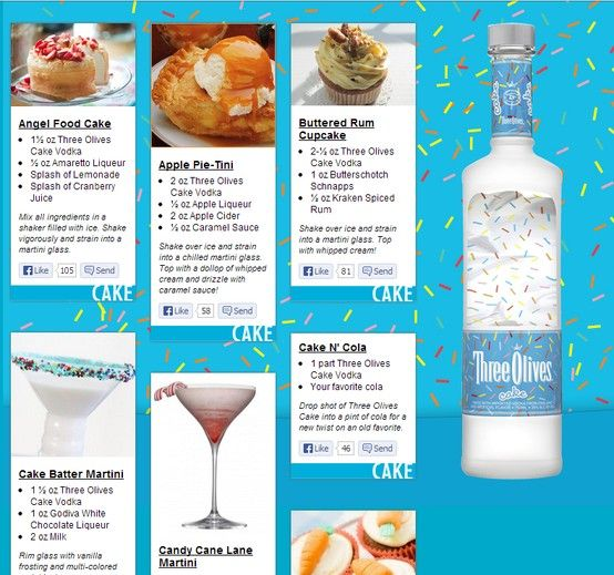 Drink Recipes With Cake Batter Vodka