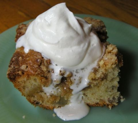 Good N Easy Cake with Homemade Whipped Cream ~ http://www.southernplate.com