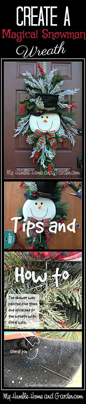 Tips and How To Create A Magical Snowman Wreath - Part 2. For The Snowman-Part 1,◄ Click here. The idea for this wreath, of course, was foun                                                                                                                                                                                 More