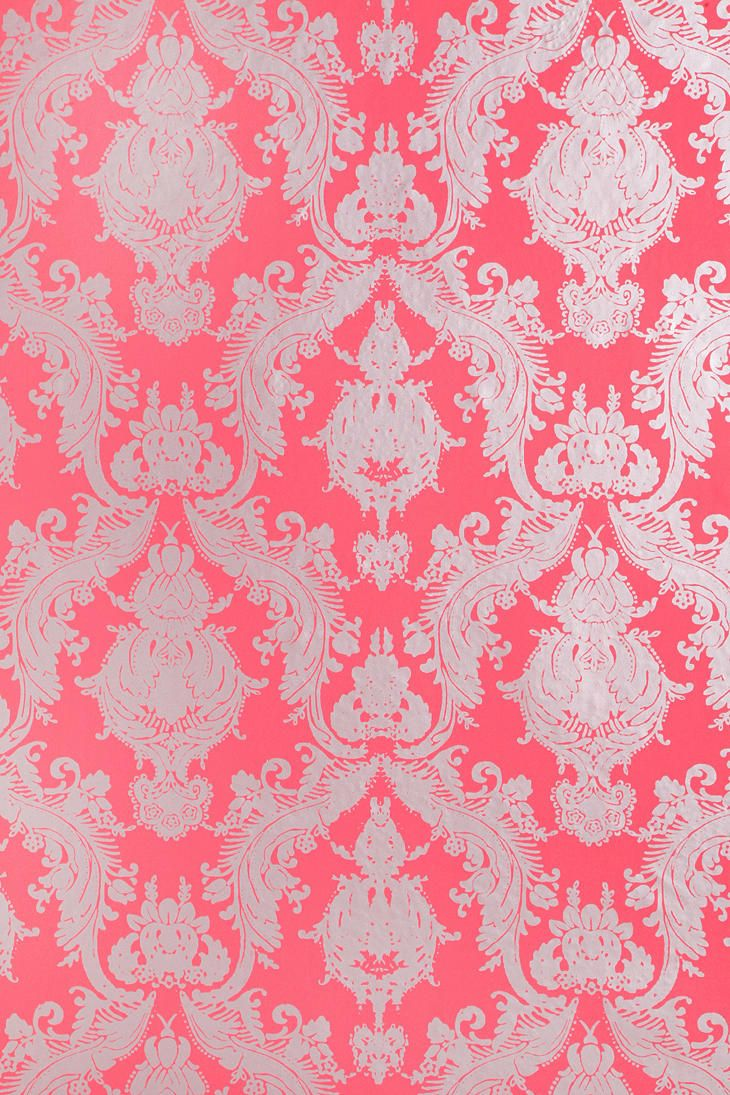 Damsel Wallpaper - Coral  #UrbanOutfitters