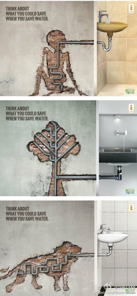 Very clever... #SaveWater