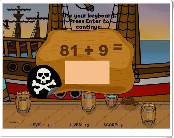 """Pirates II"" (Division Math Game)"