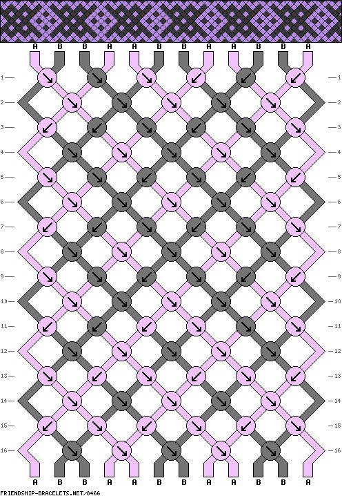 Muster # 8466, Streicher: 12 Zeilen: 16 Farben: 2